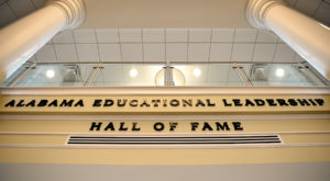 The Alabama Educational Leadership Hall of Fame is located in Hawkins Hall, home to Troy University's College of Education. (TROY photo/Clif Lusk)