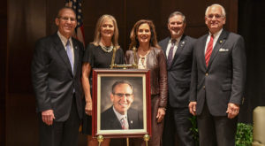 TROY alumnus Dr. Earl Franks is inducted into the Alabama Educational Leadership Hall of Fame on Nov. 15 in Hawkins Hall.