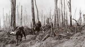 U.S. Marines during the Meuse-Argonne Offensive during World War I. (USMC - U.S. National Archives)