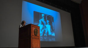 Dr. Sylviane Diouf discussed the lives of Cudjo Lewis and his fellow passengers on the Clotilda during TROY's 2019 McPherson-Mitchell Lecture.