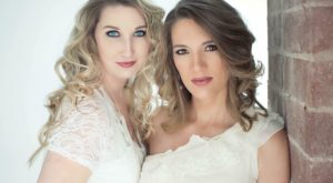 Cori Wood, left, and 2007 TROY graduate Kelly Efstathiou comprise a chart-topping music duo.