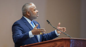 Dr. Quinton Ross spoke at TROY during the second day of the 2019 Leadership Conference Celebrating African American History Month.