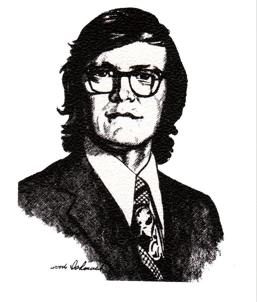 A portrait of Bill Denison by Woodi Ishmael.