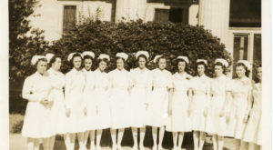 Dr. Marty Olliff's monthly feature celebrates Women's History Month through the photos of Ruth Stewart, a nurse who trained in Dothan in the 1930s.