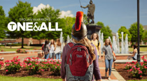 Troy University's new marketing campaign,