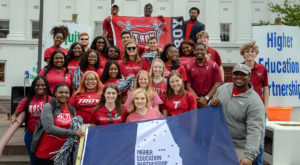 TROY students joined other students from the state's 14 public universities for Higher Education Day on April 4.
