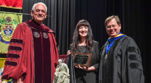 Kelly Suero receives Troy University's Ingalls Award
