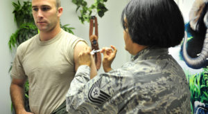 Vaccination debate shows mistrust of government some say. (USAF/Airman 1st Class Alexxis Mercer)