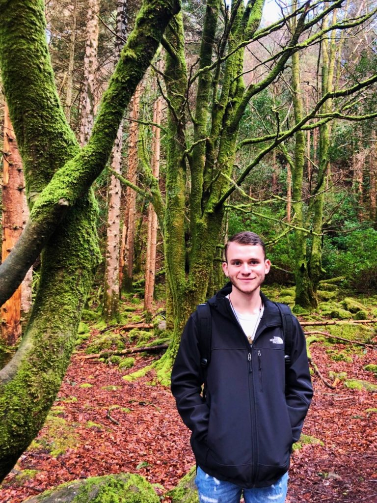 Nathan Ward took in the sights of Ireland with a group from Hospitality, Tourism, and Sport Management.