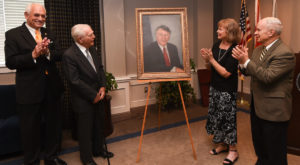 Troy University dedicated a portrait Thursday from artist Elana Hagler to longtime U.S. Rep. Terry Everett. It will be displayed at the Dothan Campus.