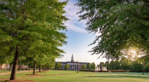 Troy University was one of four colleges or universities nationally to be recognized as a Green Ribbon School by the U.S. Department of Education.