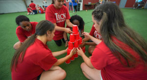 Students take part in an activity at Camp  Butter and Egg during the 2018 Camp Success.