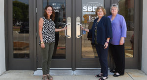 TROY's Small Business Development Center staff are welcoming small businesses in their new location in downtown Troy. (TROY photo/Clif Lusk)
