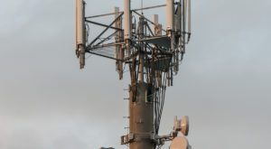 A cell phone tower relays unwanted