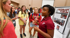 Incoming freshmen have the chance to register for classes, tour the Troy Campus and meet professors during IMPACT.