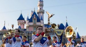 TROY senior performing at Disneyland with All-American College Band