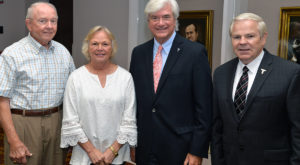 TURA officers, from left, are: Dr. James Kimbrough, Carol Ballard, Dr. Sam Shelton and administration liaison Ray White. Not pictured in Dr. John Dew.