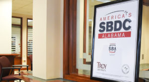 Alabama's SBDC at Troy University is located inside the IDEA Bank in downtown Troy. (TROY photo/Clif Lusk)