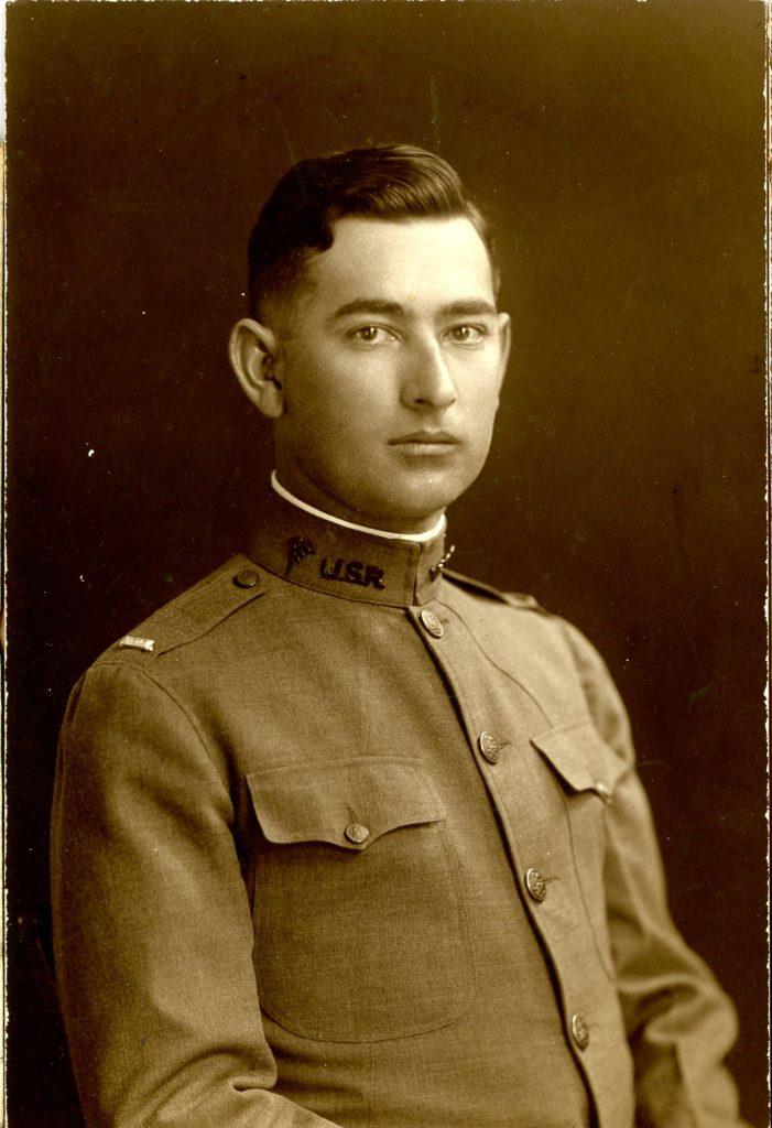 Dr. H. B. Burdeshaw as a 1st Lieutenant, AEF, 1917