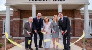 Troy University officially dedicated the first new building on its Dothan Campus since 2001.