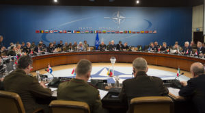 A meeting of NATO officials in Brussels in 2013. (DoD photo by D. Myles Cullen/Released)