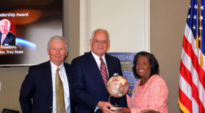 Chancellor Hawkins receives Global Leadership Award