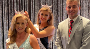 Former Miss TROY Kayla Mitchell and SGA President Morgan Long crowned Eden Hipps in a ceremony last Saturday.