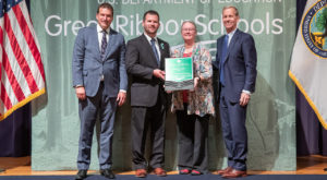 Troy University officials are presented the U.S. Department of Education Green Ribbon Schools Postsecondary Sustainability Award.