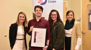 TROY student Trey Smith recently became the first student to complete the Peace Corps Prep program.