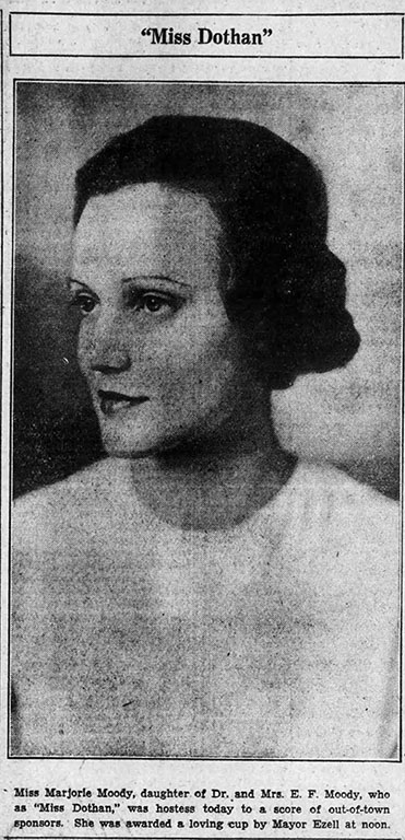 A picture of Miss Dothan, a.k.a. Marjorie Moody.