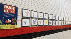 Second graders at Lakewood Primary School had their Bugs on Broad illustrations on display at Phenix City Schools' Festival of the Arts event.