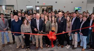 Troy University officials, faculty, staff and students officially dedicated the 78,000-square-foot center Tuesday.