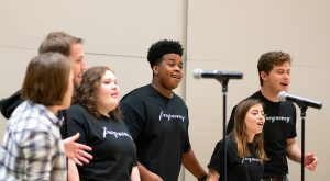 The two-day workshop included performances from Frequency, the University's vocal jazz ensemble.