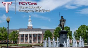 Troy University in-class students affected by the disruptions caused by COVID-19 can apply for Emergency Financial Aid grants through the CARES Act.