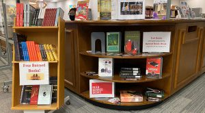 The books are being given away in honor of Banned Books Week.