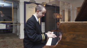 Music Industry alumnus entertaining guests on the Titanic