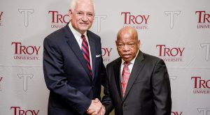 Rep. John Lewis had a long and storied history with Troy University and his home area of Pike County, Alabama.