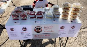 Lexii Hutchison is making her mark with Lexii's Nutty Creations, which specializes in desserts.