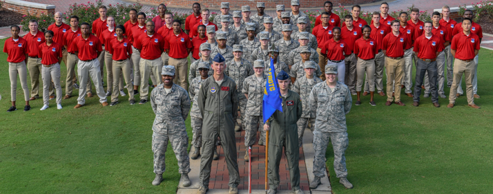 Troy University's Detachment 017 of the Air Force Reserve Officers Training Program. (TROY photo)