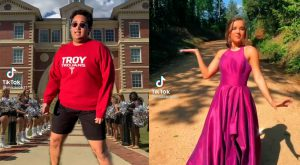 Mario Robeldo and Hallie Bruner, the winners of the 2021 TROY Prom