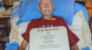 Diploma brought smiles and pride to a dying veteran
