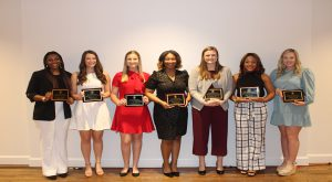 The award is given to women who have been proactive by getting involved with organizations and activities on campus.
