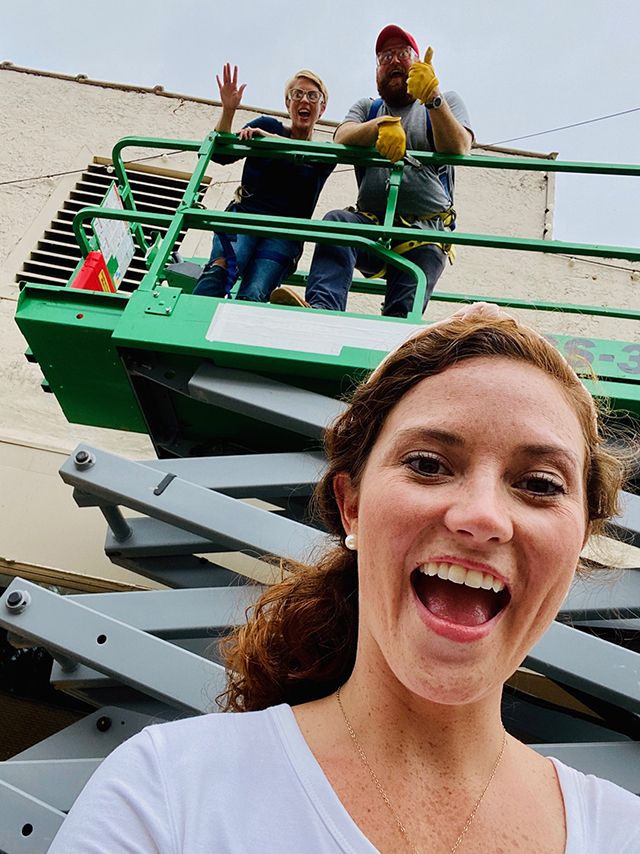 """TROY alumna Josie Russell Young helped Ben and Erin Napier renovate Wetumpka for the Napier's HGTV show """"Home Town Takeover"""" through her family's Russell Construction of Alabama.  (submitted)"""
