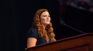 2017 TROY graduate Josie Russell Young delivered the keynote address, encouraging students to make the most of their college experience.