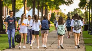 TROY students were excited to be back on campus for the first day of fall semester classes on Wednesday.