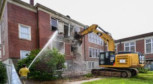McCartha Hall demolition paves the way for a new era of research at Troy University