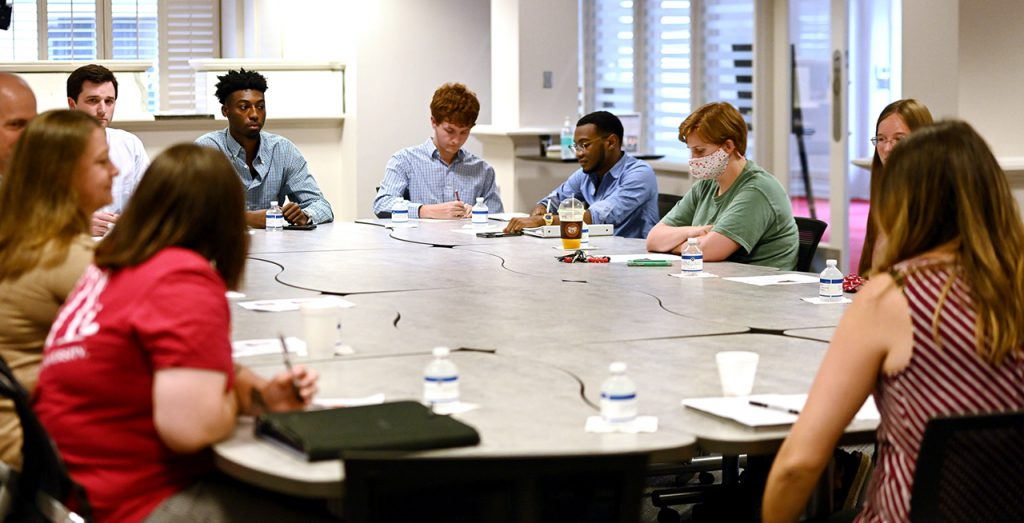 Tuesday's roundtable event featured local business owners sharing their experiences with starting a business. Those attending were encouraged to ask questions and participate in the dialogue.
