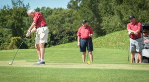 The 22nd annual Chancellor's Golf Tournament has raised $1 million for the John W. Schmidt Student Ministries Fund.