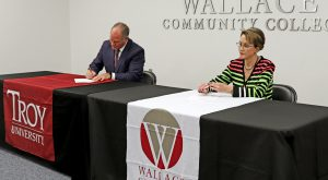 Troy University, Wallace Community College-Dothan ink articulation agreement