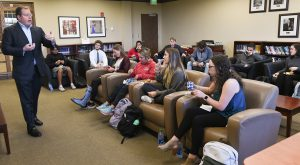 Investment banker shares knowledge with Sorrell College of Business students